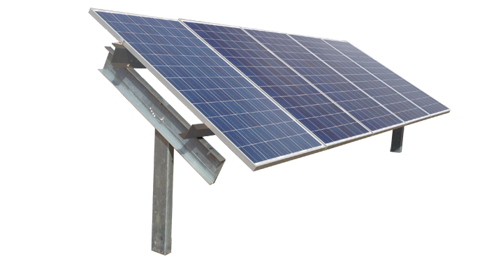 Post Driven Ground Mount :: Patriot Solar Group