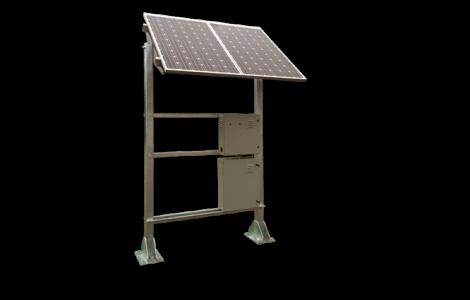Solar powered natural gas wellhead monitor.