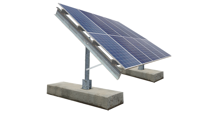 2 High Ballasted Ground Mount :: Patriot Solar Group
