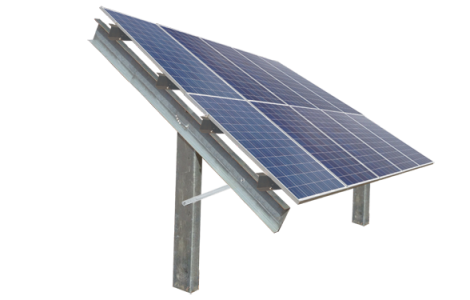 Ballasted-2-high-solar-ground-mount