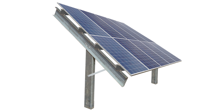 2 High Post Driven Ground Mount :: Patriot Solar Group