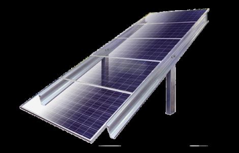 Post-driven-solar-ground-mount-5-high