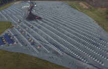 Aerial photo of the Berkley Landfill Solar Array