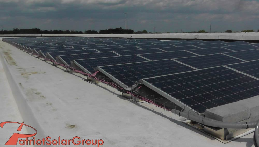 Ballasted Roof Mount Patriot Solar Group