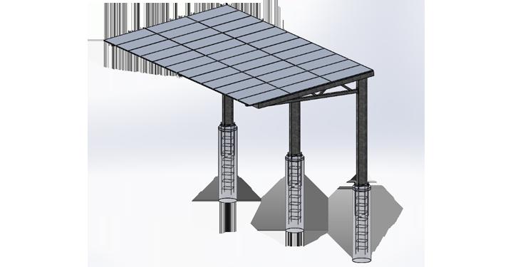 Solar Carport - L Frame :: Patriot Solar Group