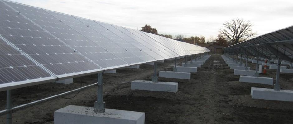 marysville solar ballasted ground mount