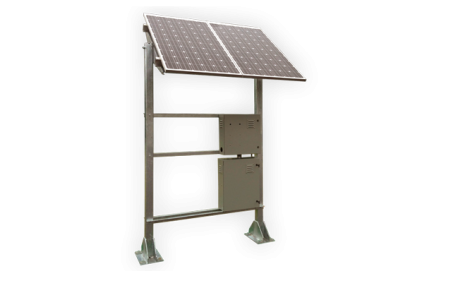 Solar powered natural gas wellhead monitor.