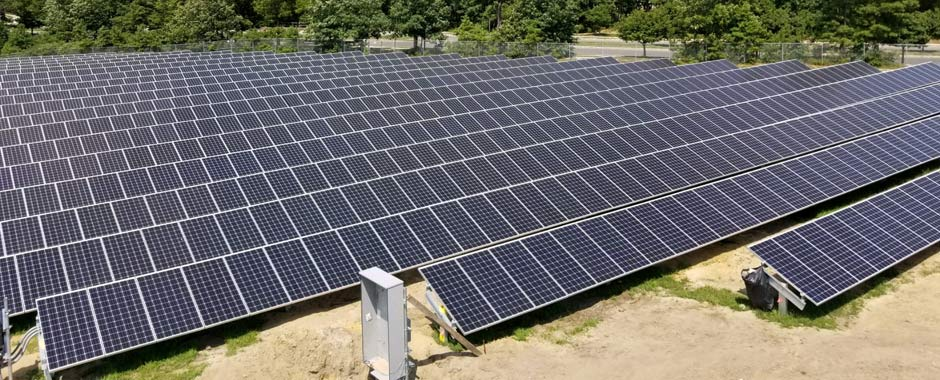 Solar ground mount in Stafford New Jersey.