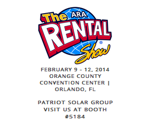 2014 rental show logo with PSG's booth number 5184